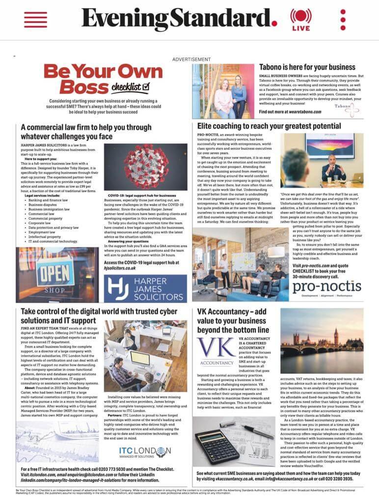 VK Accountancy Evening Standard